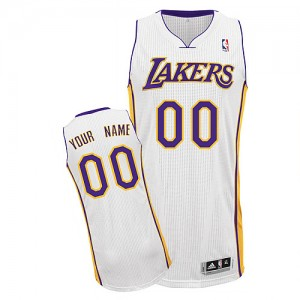 Camisetas Baloncesto Hombre NBA Los Angeles Lakers Alternate Authentic Personalizadas Blanco