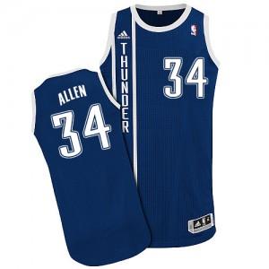 Camiseta NBA Alternate Oklahoma City Thunder Azul marino Authentic - Hombre - #34 Ray Allen