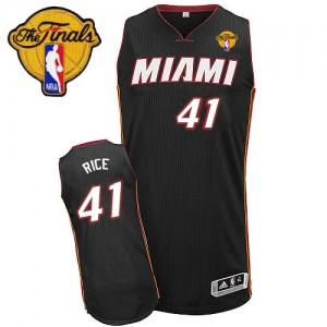Camiseta NBA Road Finals Patch Miami Heat Negro Authentic - Hombre - #41 Glen Rice
