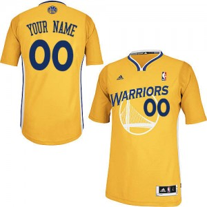 Golden State Warriors Adidas Alternate Oro Camiseta de la NBA - Swingman Personalizadas - Hombre