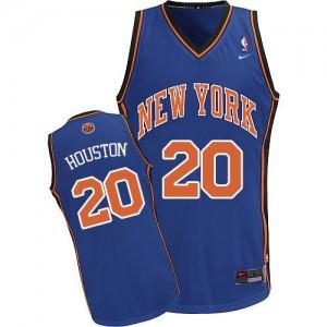 Camiseta NBA Authentic Allan Houston #20 Throwback Azul real - New York Knicks - Hombre