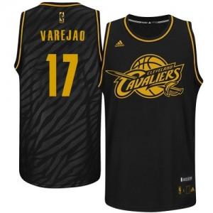 Camiseta NBA Precious Metals Fashion Cleveland Cavaliers Negro Swingman - Hombre - #17 Anderson Varejao