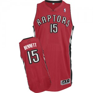 Camisetas Baloncesto Hombre NBA Toronto Raptors Road Authentic Anthony Bennett #15 Rojo