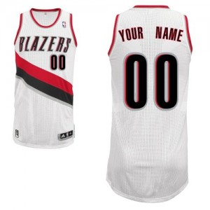 Adolescentes Camiseta Authentic Personalizadas Portland Trail Blazers Adidas Home Blanco