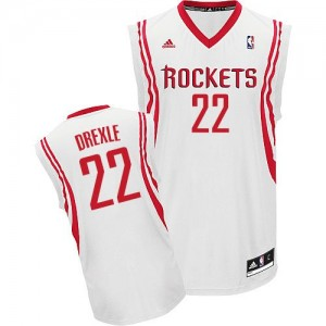 Camiseta Swingman Clyde Drexler #22 Houston Rockets Home Blanco - Hombre