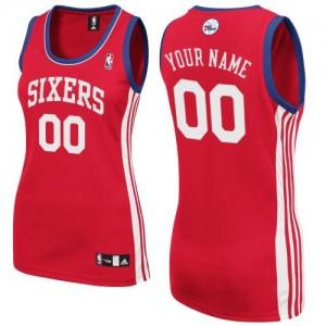 Camiseta NBA Philadelphia 76ers Authentic Personalizadas Road Adidas Rojo - Mujer