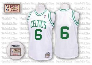 Camiseta NBA Authentic Bill Russell #6 Throwback Blanco - Boston Celtics - Hombre