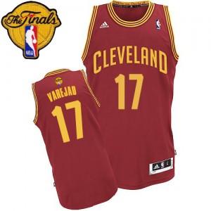 Camisetas Baloncesto Hombre NBA Cleveland Cavaliers Road 2015 The Finals Patch Swingman Anderson Varejao #17 Vino Rojo