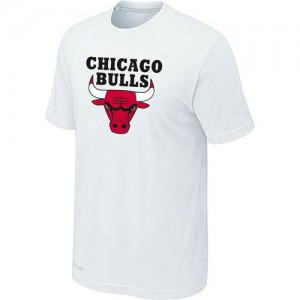 T-Shirt Hombre NBA Chicago Bulls Big & Tall Blanco