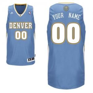 Hombre Camiseta Swingman Personalizadas Denver Nuggets Adidas Road Azul claro