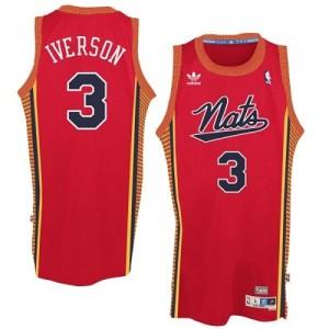 "Camiseta NBA Throwback ""Nats"" Philadelphia 76ers Rojo Swingman - Hombre - #3 Allen Iverson"