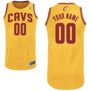 Camiseta NBA Cleveland Cavaliers Authentic Personalizadas Alternate Adidas Oro - Hombre