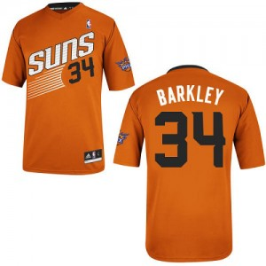 Camiseta NBA Phoenix Suns Charles Barkley #34 Alternate Adidas naranja Authentic - Hombre