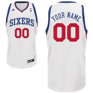 Camiseta NBA Philadelphia 76ers Swingman Personalizadas Home Adidas Blanco - Adolescentes