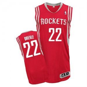 Camisetas Baloncesto Hombre NBA Houston Rockets Road Authentic Clyde Drexler #22 Rojo