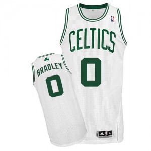 Camiseta Authentic Avery Bradley #0 Boston Celtics Home Blanco - Hombre