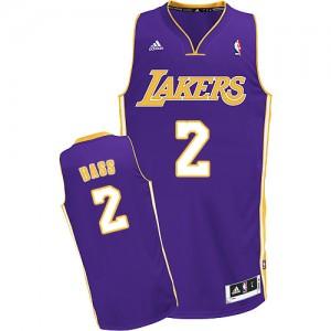 Los Angeles Lakers Adidas Road Púrpura Swingman Camiseta de la NBA - Brandon Bass #2 - Hombre