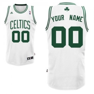 Adolescentes Camiseta Swingman Personalizadas Boston Celtics Adidas Home Blanco