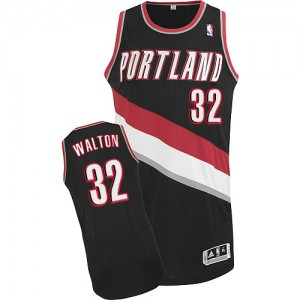 Camisetas Baloncesto Hombre NBA Portland Trail Blazers Road Authentic Bill Walton #32 Negro