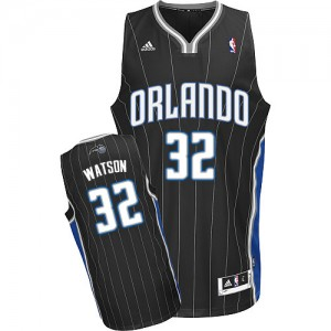 Hombre Camiseta C.J. Watson #32 Orlando Magic Adidas Alternate Negro Swingman