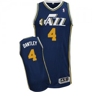 Camiseta NBA Utah Jazz Adrian Dantley #4 Road Adidas Azul marino Authentic - Hombre