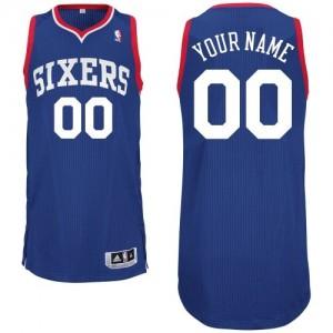 Camiseta NBA Philadelphia 76ers Authentic Personalizadas Alternate Adidas Azul real - Adolescentes
