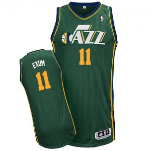 Camiseta NBA Utah Jazz Dante Exum #11 Alternate Adidas Verde Authentic - Hombre