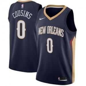 Camiseta Swingman DeMarcus Cousins #0 New Orleans Pelicans Stitched Armada - Hombre