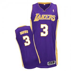Los Angeles Lakers Adidas Road Púrpura Authentic Camiseta de la NBA - Anthony Brown #3 - Hombre