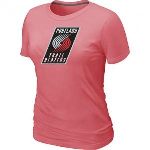T-Shirts NBA Portland Trail Blazers Big & Tall Rosado - Mujer