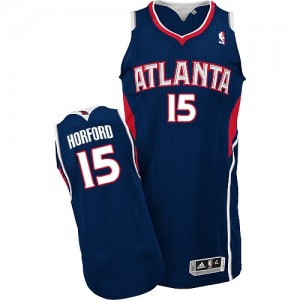 Camiseta NBA Road Atlanta Hawks Azul marino Authentic - Hombre - #15 Al Horford