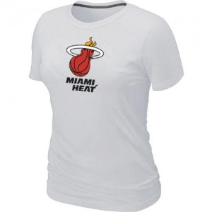Miami Heat Big & Tall Blanco T-Shirts de la NBA - Mujer