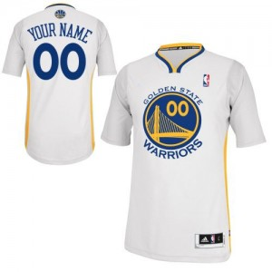 Golden State Warriors Adidas Alternate Blanco Camiseta de la NBA - Authentic Personalizadas - Adolescentes