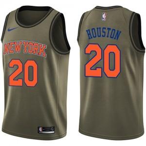 New York Knicks Salute To Service Verde Swingman Camiseta de la NBA - Allan Houston #20 - Hombre