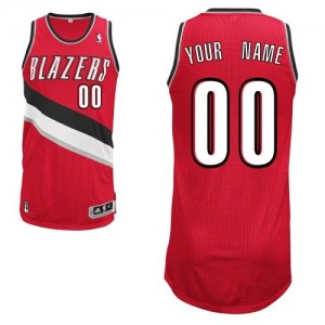 Hombre Camiseta Authentic Personalizadas Portland Trail Blazers Adidas Alternate Rojo
