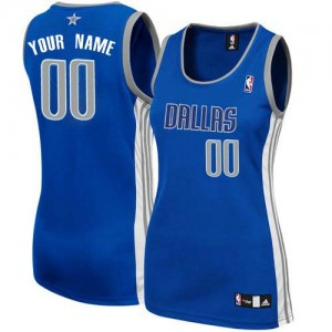 Mujer Camiseta Authentic Personalizadas Dallas Mavericks Adidas Alternate Azul marino