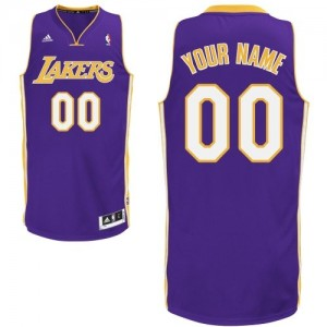 Camisetas Baloncesto Hombre NBA Los Angeles Lakers Road Swingman Personalizadas Púrpura