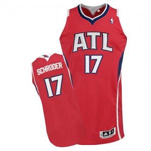 Camiseta NBA Alternate Atlanta Hawks Rojo Authentic - Hombre - #17 Dennis Schroder