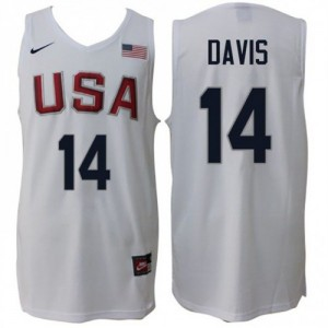 Camiseta Home Rio 2016 Olympics USA Dream Team Blanco - #14 Anthony Davis