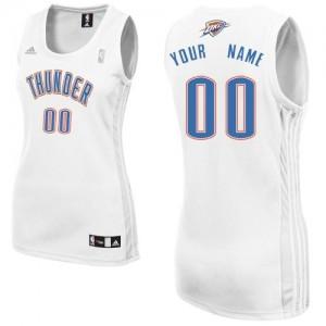 Camiseta NBA Home Oklahoma City Thunder Blanco - Mujer - Personalizadas Swingman