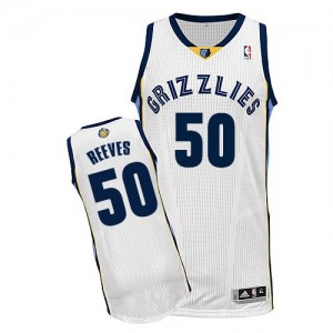 Camiseta NBA Authentic Bryant Reeves #50 Home Blanco - Memphis Grizzlies - Hombre