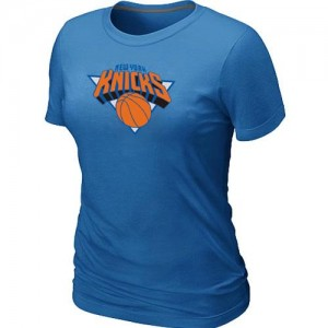 T-Shirts NBA New York Knicks Big & Tall Azul claro - Mujer