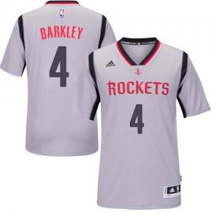 Camisetas Baloncesto Hombre NBA Houston Rockets Alternate Authentic Charles Barkley #4 Gris