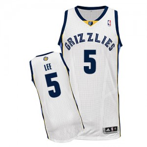Camiseta NBA Authentic Courtney Lee #5 Home Blanco - Memphis Grizzlies - Hombre