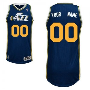 Camiseta NBA Road Utah Jazz Azul marino - Adolescentes - Personalizadas Authentic