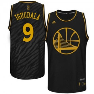 Camisetas Baloncesto Hombre NBA Golden State Warriors Precious Metals Fashion Authentic Andre Iguodala #9 Negro