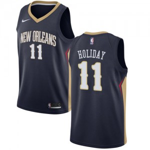 Camiseta Swingman Icon Edition Jrue Holiday #11 Armada - New Orleans Pelicans - Hombre