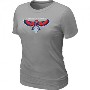T-Shirts NBA Big & Tall Atlanta Hawks Gris - Mujer