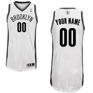 Hombre Camiseta Authentic Personalizadas Brooklyn Nets Adidas Home Blanco