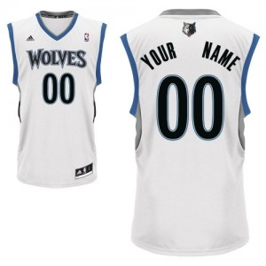 Camiseta NBA Swingman Personalizadas Home Blanco - Minnesota Timberwolves - Hombre